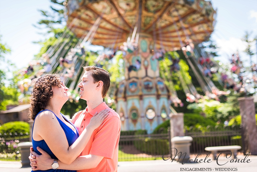Fun Engagement Session At Canobie Lake Park Kathryn