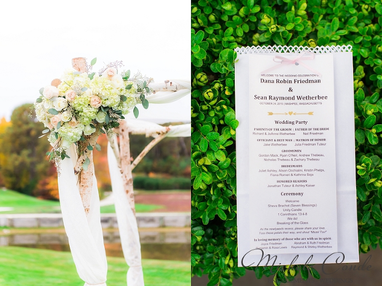 Elegant Gold and Pink Cape Cod Wedding, Willowbend Country