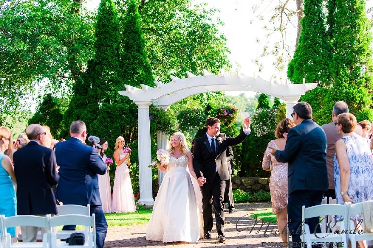 Summer Garden Ceremony Andover Country Club Wedding
